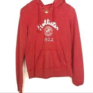 Hollister Red V Neck Sweatshirt Hoodie